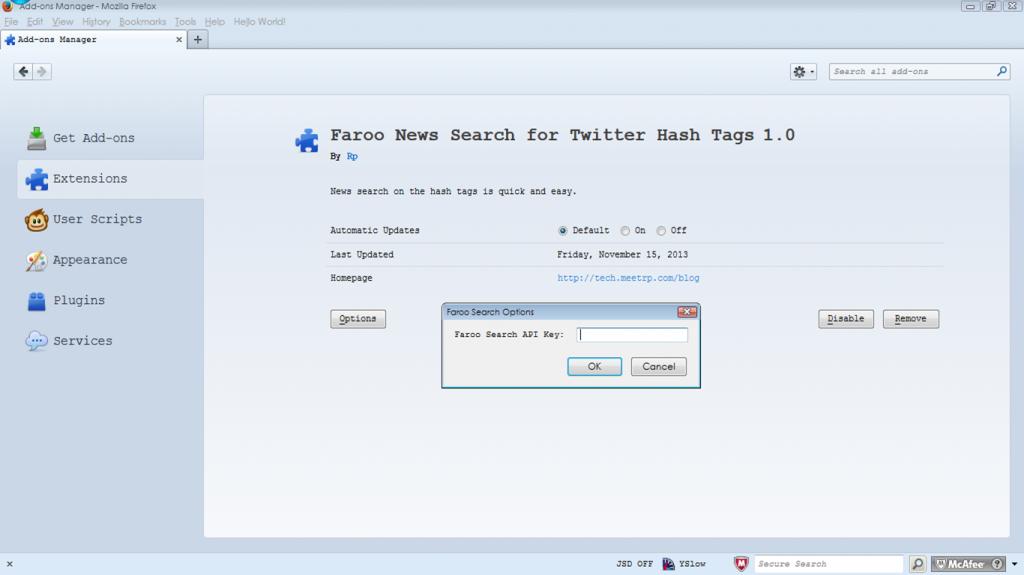 faroo search options
