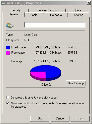Final Disk Usage